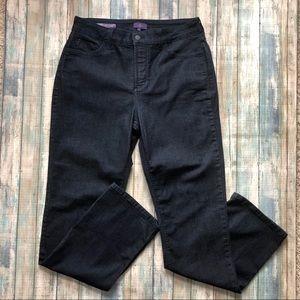 NYDJ Marilyn Straight Lift Tuck Dark Wash Jeans 14